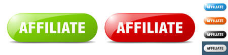affiliate button. sign. key. push button set
