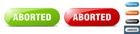 aborted button. sign. key. push button set