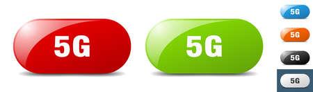 5g button. sign. key. push button set