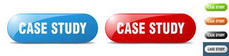 case study button. sign. key. push button set