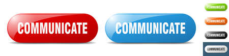 communicate button. sign. key. push button set