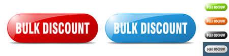 bulk discount button. sign. key. push button set