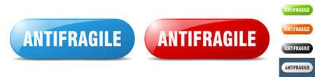 antifragile button. sign. key. push button set Stock Illustratie