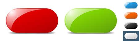 blank button. sign. key. push button set