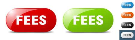 fees button. sign. key. push button set