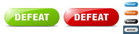 defeat button. sign. key. push button set