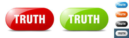truth button. sign. key. push button set