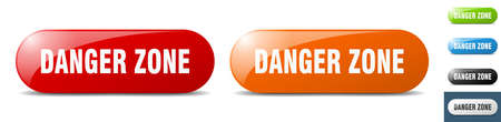 danger zone button. sign. key. push button set