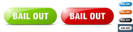 bail out button. sign. key. push button set Vecteurs