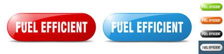 fuel efficient button. sign. key. push button set