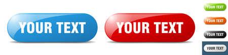 your text button. sign. key. push button set