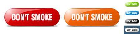 don't smoke button. sign. key. push button set