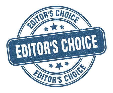 editor's choice stamp. editor's choice sign. round grunge label