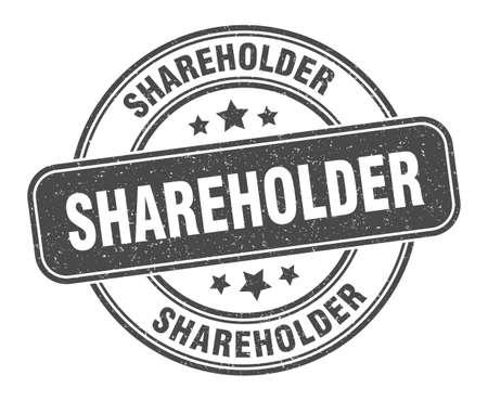 shareholder stamp. shareholder sign. round grunge label