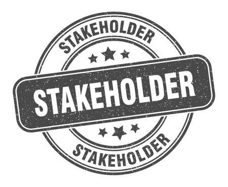 stakeholder stamp. stakeholder sign. round grunge label
