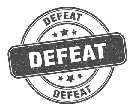 defeat stamp. defeat sign. round grunge label Vecteurs