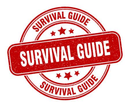 survival guide stamp. survival guide sign. round grunge label