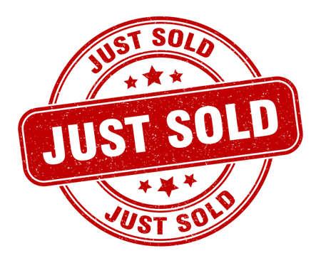 just sold stamp. just sold sign. round grunge label