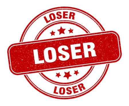 loser stamp. loser sign. round grunge label