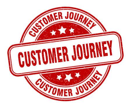 customer journey stamp. customer journey sign. round grunge label