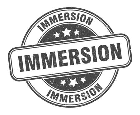 immersion stamp. immersion sign. round grunge label