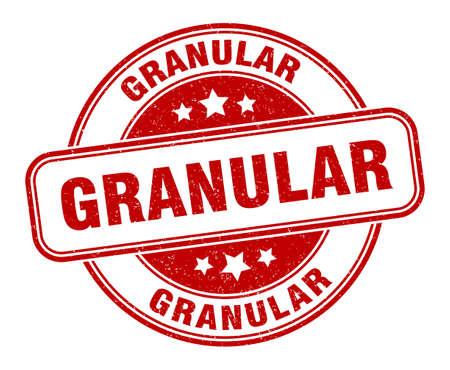 granular stamp. granular sign. round grunge label