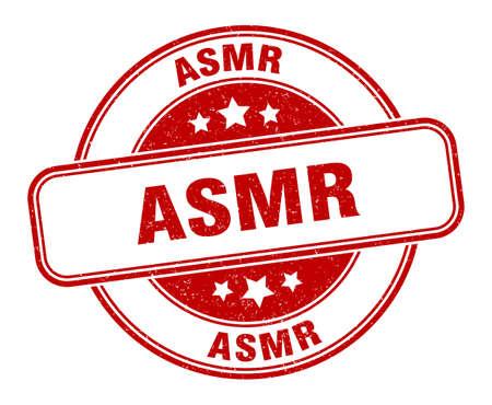 asmr stamp. asmr sign. round grunge label