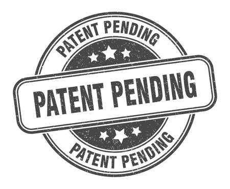 patent pending stamp. patent pending sign. round grunge label Vectores
