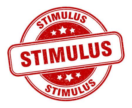 stimulus stamp. stimulus sign. round grunge label