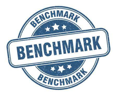 benchmark stamp. benchmark sign. round grunge label