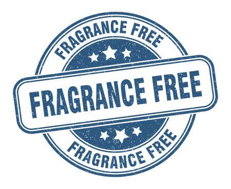 fragrance free stamp. fragrance free sign. round grunge label Ilustração Vetorial