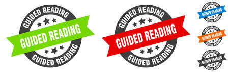 guided reading stamp. guided reading round ribbon sticker. label