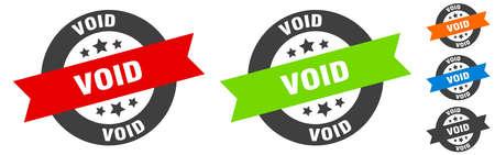 void stamp. void round ribbon sticker. label