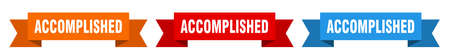 accomplished ribbon. accomplished isolated paper banner. sign