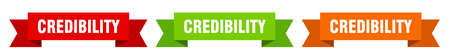 credibility ribbon. credibility isolated paper banner. sign