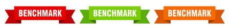 benchmark ribbon. benchmark isolated paper banner. sign