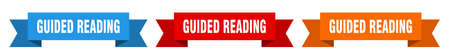 guided reading ribbon. guided reading isolated paper banner. sign