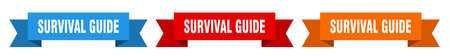 survival guide ribbon. survival guide isolated paper banner. sign
