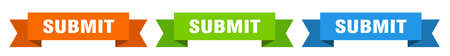 submit ribbon. submit isolated paper banner. sign