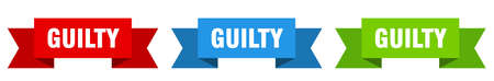 guilty ribbon. guilty isolated paper banner. sign