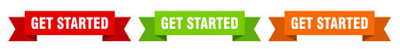 get started ribbon. get started isolated paper banner. sign Vector Illustratie
