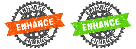 enhance grunge stamp set. enhance band sign Vektorgrafik
