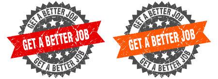 get a better job grunge stamp set. get a better job band sign