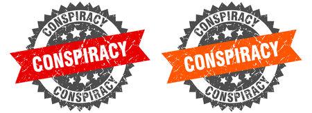 conspiracy grunge stamp set. conspiracy band sign