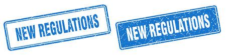 new regulations square stamp. new regulations grunge sign set