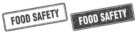 food safety square stamp. food safety grunge sign set
