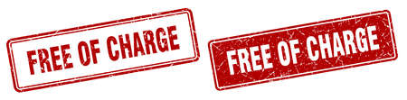 free of charge square stamp. free of charge grunge sign set