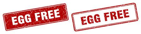 egg free square stamp. egg free grunge sign set Illustration