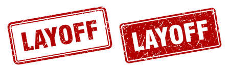 layoff square stamp. layoff grunge sign set