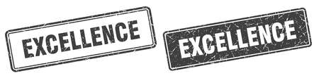 excellence square stamp. excellence grunge sign set